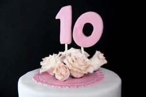 עוגת בצק סוכר ליום הולדת 10
